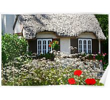 COTTAGE IN THE GARDEN Poster