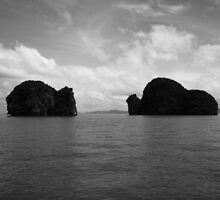 Island Twins (B&W) by Christian Eccleston