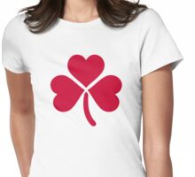 Shamrock red hearts Womens Fitted T-Shirt