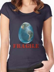 Earth-Fragile Women's Fitted Scoop T-Shirt