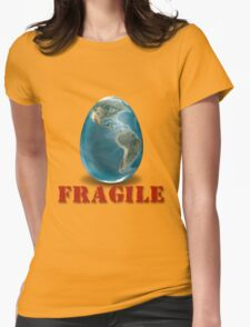 Earth-Fragile Womens Fitted T-Shirt
