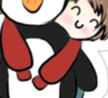 Ashton and Luke's Penguin Sticker