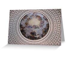 United States Capitol Dome Fresco Greeting Card