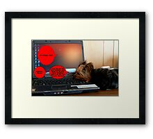 My K9 Friends, YES! Framed Print