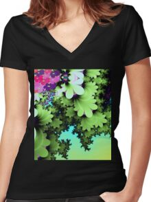 Spring time beauty Women's Fitted V-Neck T-Shirt