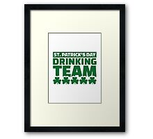 St. Patrick's day drinking team Framed Print