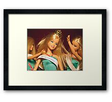 Beauty Queen Barbie Framed Print