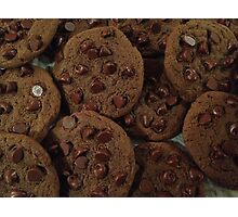 Double Chocolate Chip Cookies Photographic Print