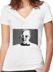 Max Headroom Women's Fitted V-Neck T-Shirt