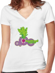 beetroot to yourself Women's Fitted V-Neck T-Shirt