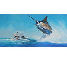 The big blue catch Photographic Print