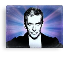 Dr Who Peter Capaldi Poster Sketch Canvas Print