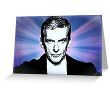 Dr Who Peter Capaldi Poster Sketch Greeting Card