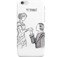 Titanic Jack and Rose Line Drawing iPhone Case/Skin
