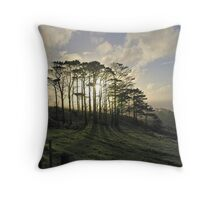 The Flickering Glade Throw Pillow