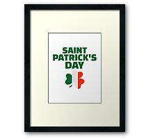 St. Patrick's day ireland flag Framed Print