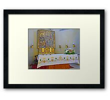 Altar in Jak Church Framed Print