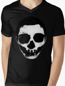 Horror Punk Skullface Mens V-Neck T-Shirt