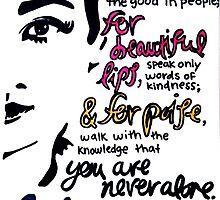 Audrey Hepburn Quote Design  by Claire Coleman