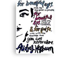 Audrey Hepburn Quote Design  Canvas Print