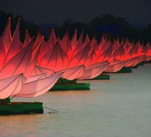 Buddhist Festival River Lotus by Remijn