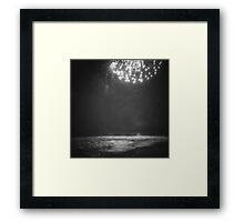 Ocean Fireworks Framed Print