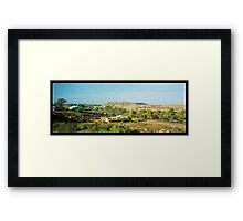 desert view with slag heap Framed Print