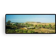 desert view with slag heap Canvas Print