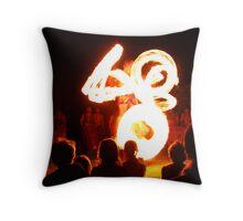 fire dance Throw Pillow