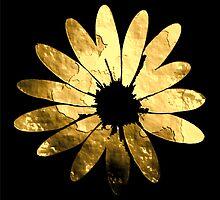 Golden flower by Robert Elfferich