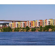 Colorful Row Houses Photographic Print