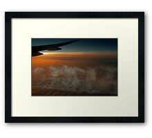 Sunset Contrail ©  Framed Print
