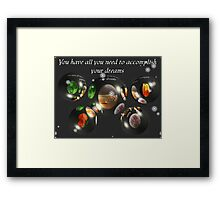Yes You Can Framed Print