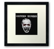Charles Bukowski - Drink More Care Less Framed Print