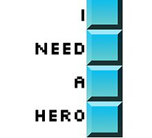 I need a hero- long tetris by eccehistoria