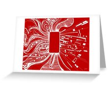 Mobile - Red Greeting Card