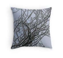 Branches and Snow Throw Pillow