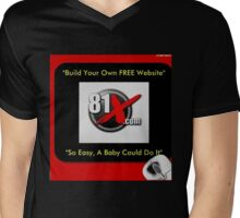 Get Your Own FREE Website Now!, So Easy a Baby Could Do IT!! Mens V-Neck T-Shirt