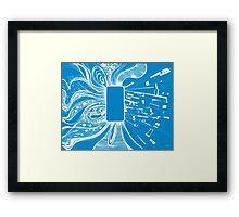 Mobile - Blue Framed Print