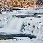Wintry Waterfall by Kenneth Keifer