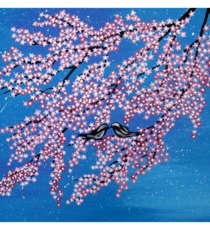 Love among the cherry blossoms Sticker