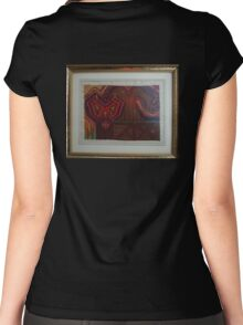 House Of Life ~ Yggdrasil Meets Christianity Women's Fitted Scoop T-Shirt