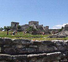 overview at the Ruins in Tulum, Yucatan, Mexico by chord0