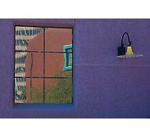 Purple wall, Tucson Photographic Print