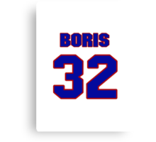 Basketball player Boris Diaw jersey 32 Canvas Print