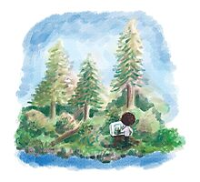 Happy Little Painting Photographic Print