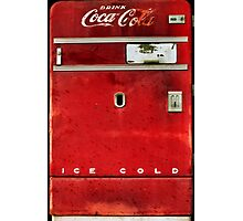 Old Coca-Cola Machine Photographic Print