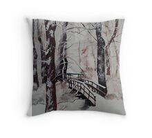 Winter Wonderland - Snow Scene Throw Pillow