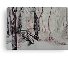 Winter Wonderland - Snow Scene Canvas Print