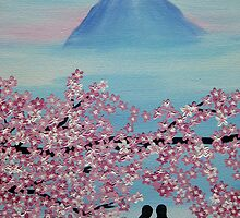 Below Mt Fuji by cathyjacobs